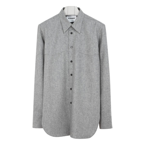 Gray flannel wool shirt
