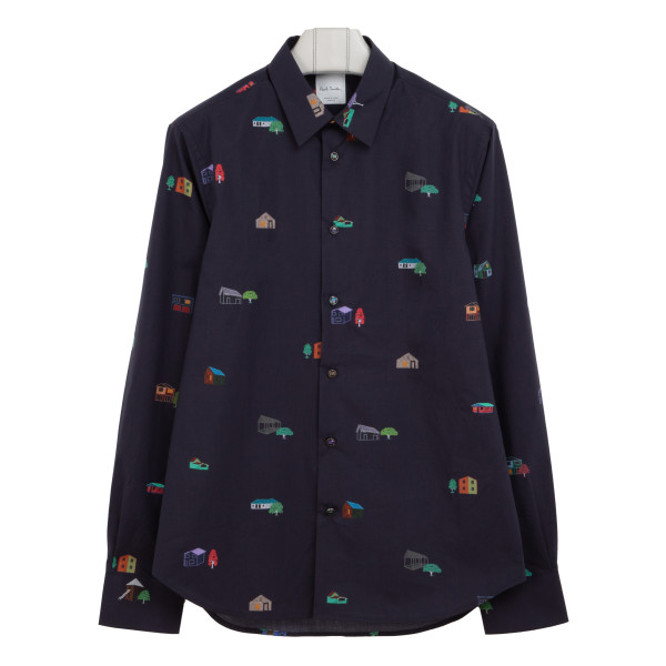 All-over graphic print shirt