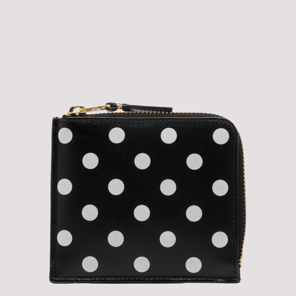 Polka dots black coin purse