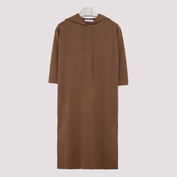 Brown Lerici hooded dress