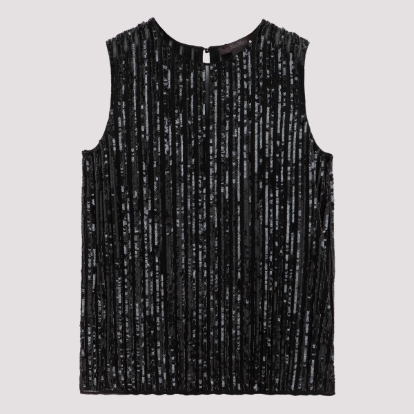 Black Asia sequinned top