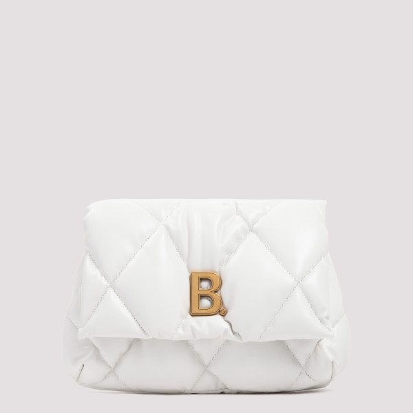 White Touch fluffy clutch