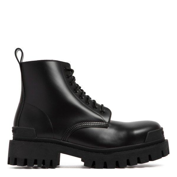 Black leather Strike boots
