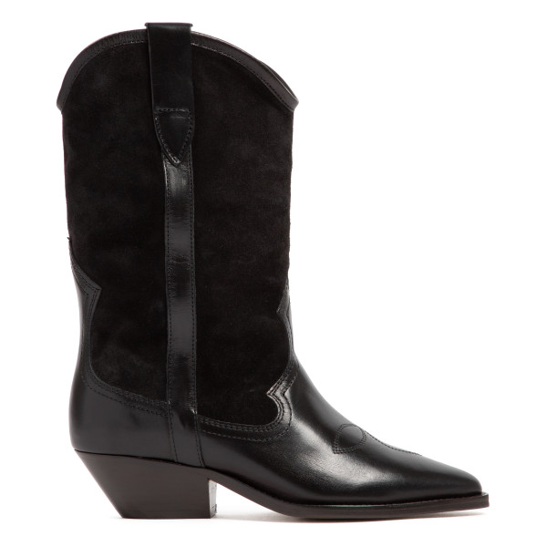 Black Dandrea suede and leather boots