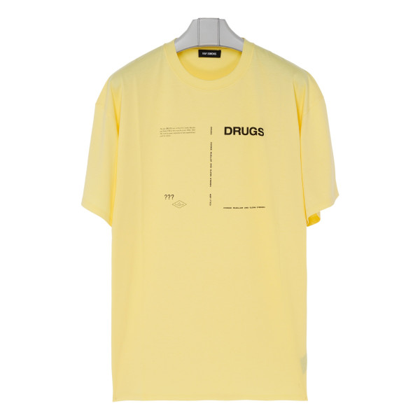 Yellow cotton Drugs T-shirt
