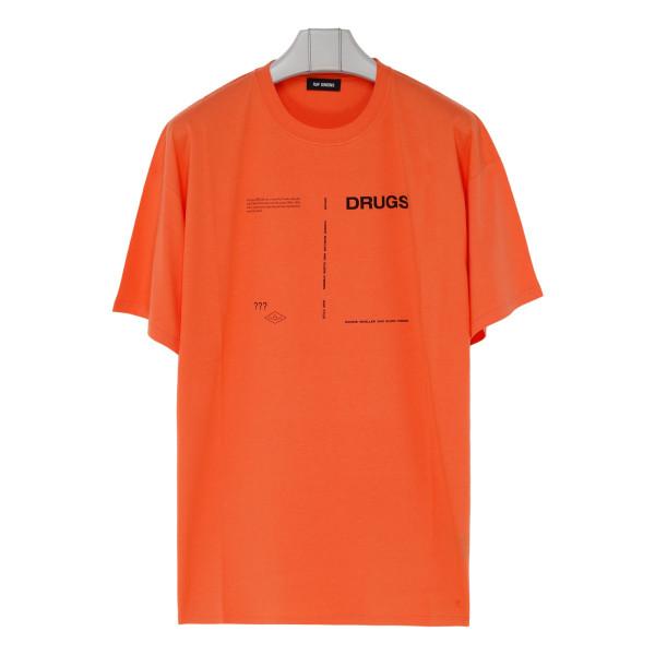 Orange cotton Drugs T-shirt