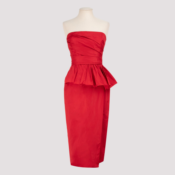 Matteo red taffeta dress
