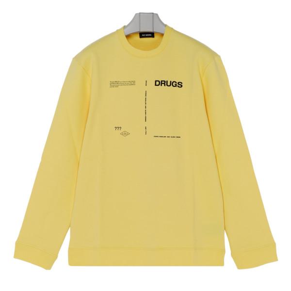 Yellow cotton Drugs Sweathirt