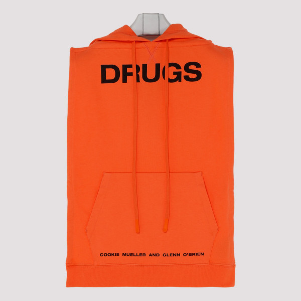 Orange cotton Drugs Sweathirt