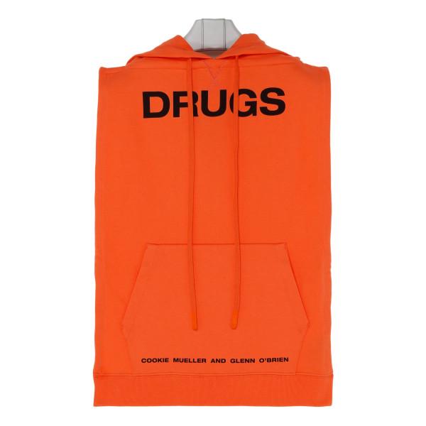 Orange cotton Drugs Sweathirt
