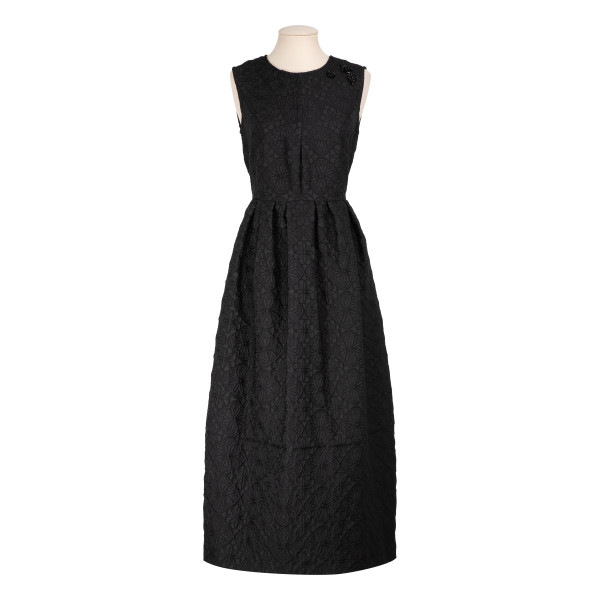 Black Jacquard Francia dress