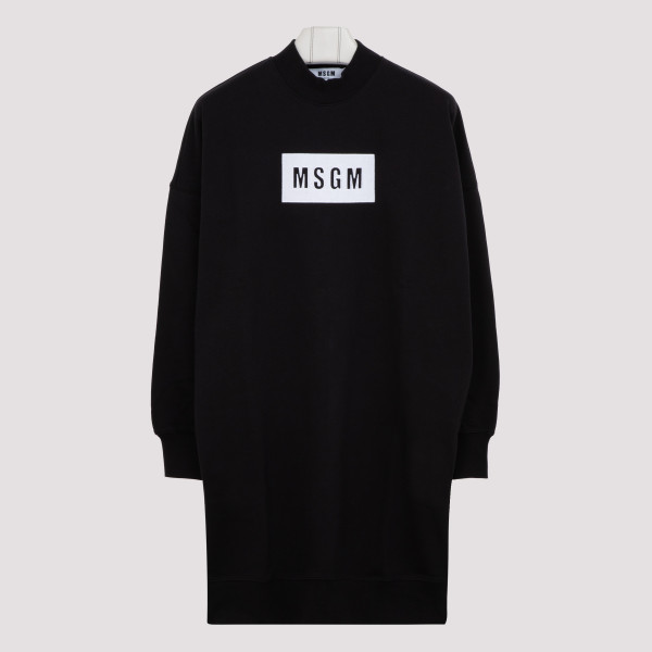 Black branded fleece dress