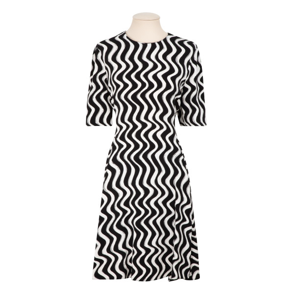 Zig-zag stretch viscose dress