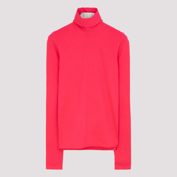 Pink techno-knit top