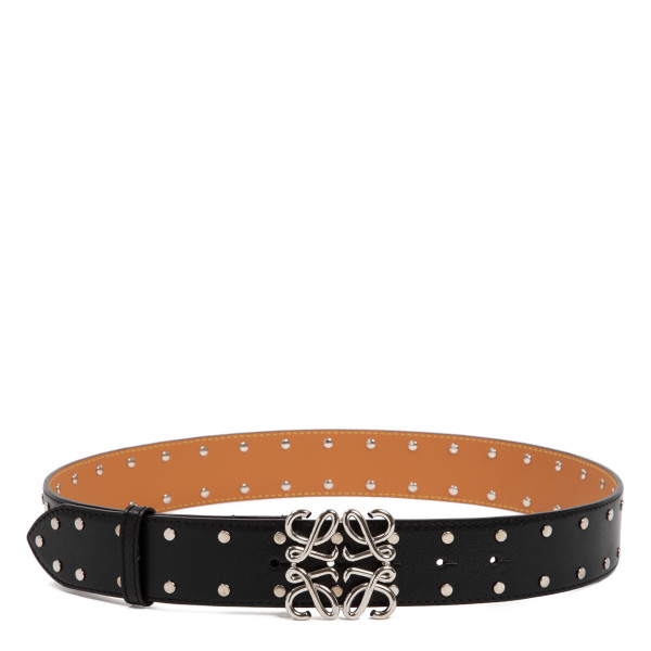 Black Studs Anagram belt