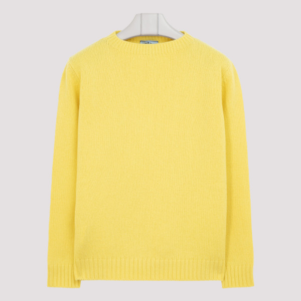 Yellow wool and cashmere...