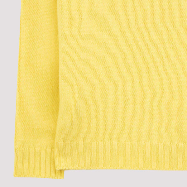 Yellow wool and cashmere sweater