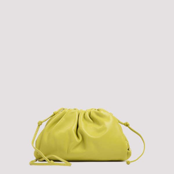 The mini pouch in kiwi leather