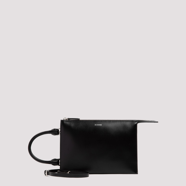 Tootie black leather small...