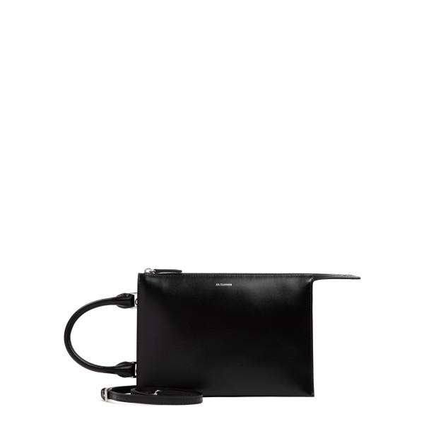 Tootie black leather small clutch