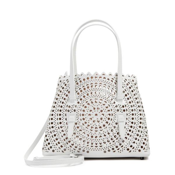 Mina 25 optic white tote bag