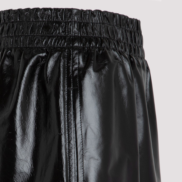 Black Shiny leather shorts