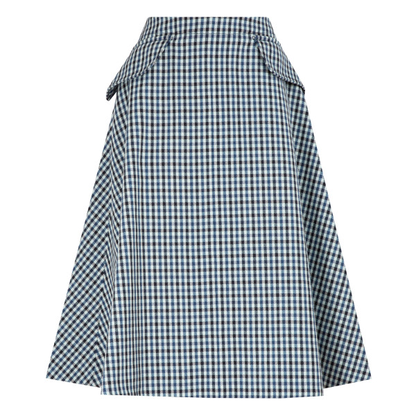Houndstooth wool skirt