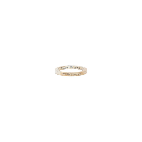 Branded silver thin ring