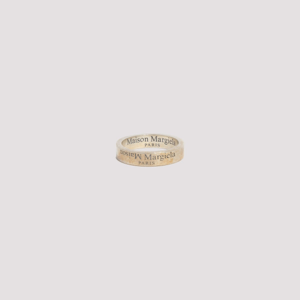 Branded silver ring with...
