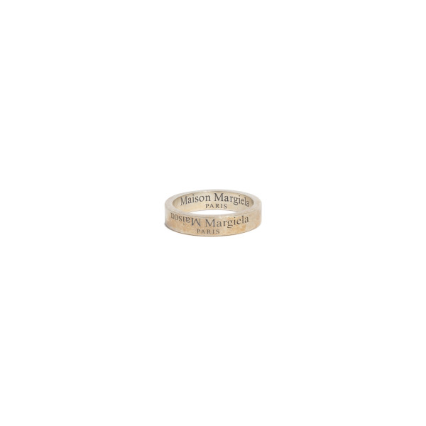 Branded silver ring with brunito plating