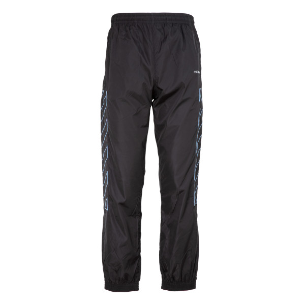 Diag nylon track pants