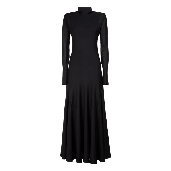 Black fluid jersey dress