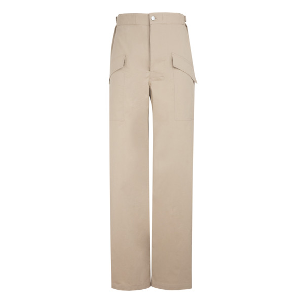 Sand stretch canvas pants