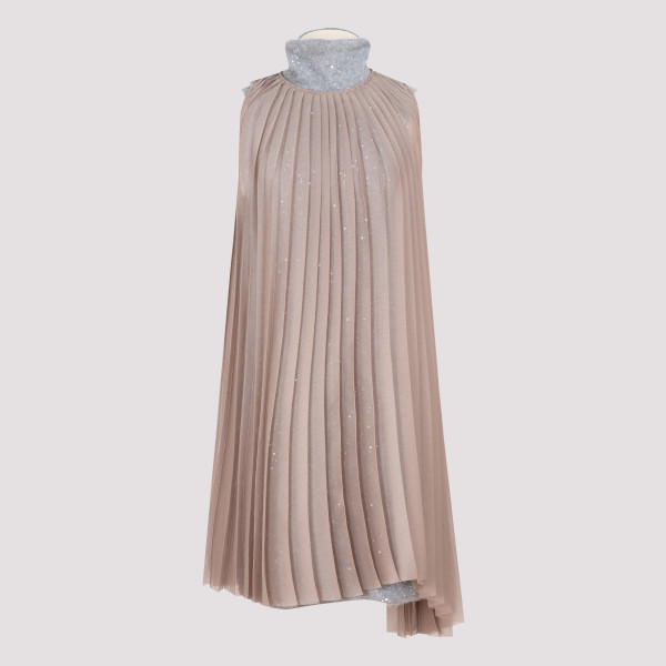 Sequin pleated dress