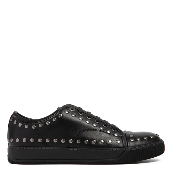Black DBB1 leather studded sneakers