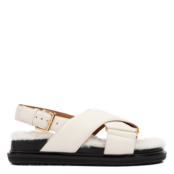 Fussbett nappa and shearling sandals