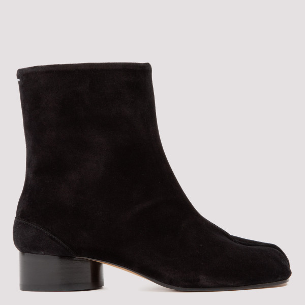 Tabi black suede booties