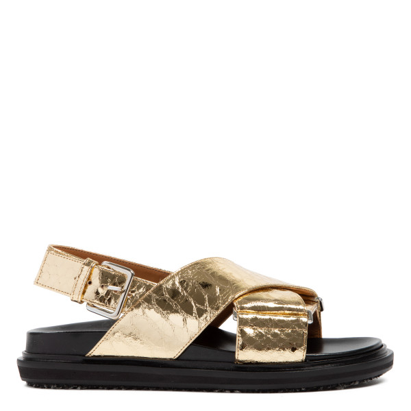 Fussbett croc-embossed leather sandals