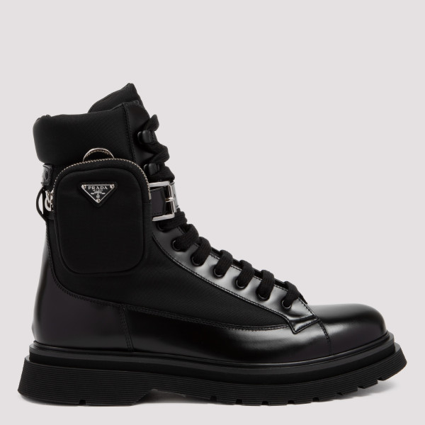 Black leather boots with...