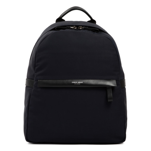 Waterproof nylon and leather backpack