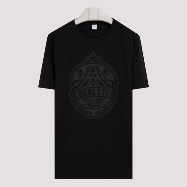 Black Cotton maxi logo T-shirt