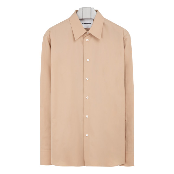 Medium beige cotton shirt