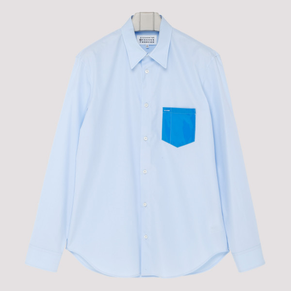Contrast-pocket light blue...