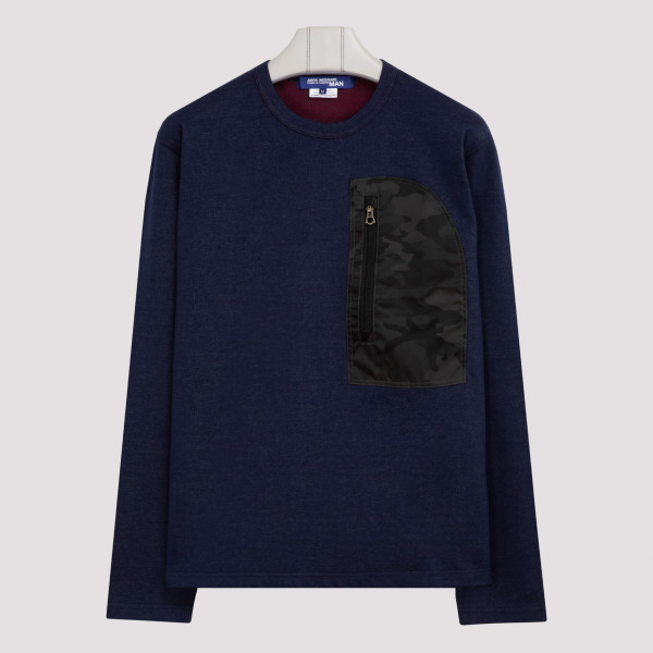 Zipped pocket navy sweater
