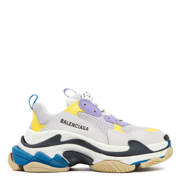 Purple and yellow  Triple S sneakers