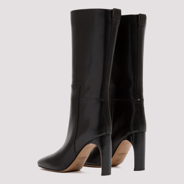 Black Leather mid-length boots