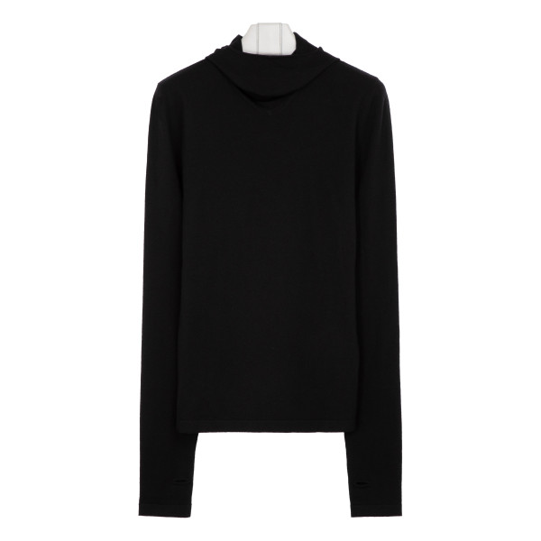 Black cashmere-blend sweater
