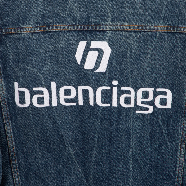 Logo oversized denim jacket