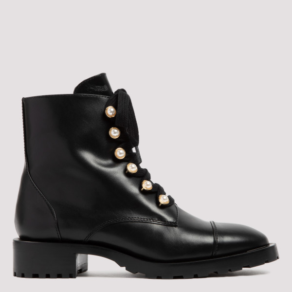 Reysen black leather combat...