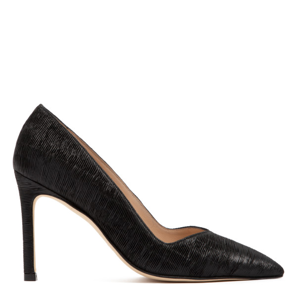 Anny black leather 95 pumps